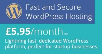 New 4.95 WordPress Hosting Header