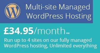 New Multisite Managed WordPress Hosting Header